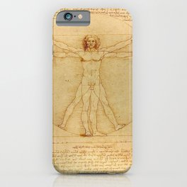 The Vitruvian Man 1405 (L Uomo Vitruviano) Leonardo da Vinci Artwork for Prints Posters Tshirts Men iPhone Case