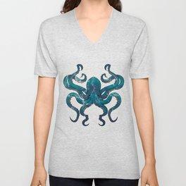 Octopus Unisex V-Neck