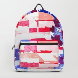 Messed Up American Flag Backpack