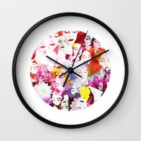 ultraviolence Wall Clocks featuring Ultraviolence by Kat Heroine