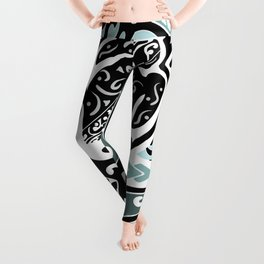 Hawaiian Tribal Ray Leggings