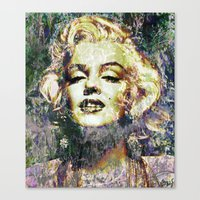 marilyn Canvas Prints featuring MARILYN by Vonis