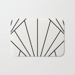 Diamond Series Sun Burst Charcoal on White Bath Mat
