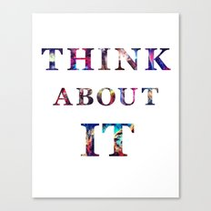 Space: Think About It Canvas Print