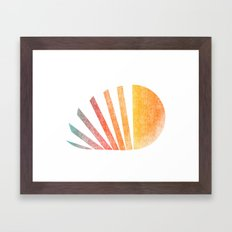 Raising sun (rainbow-ed) Framed Art Print