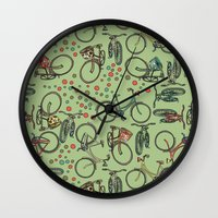 bikes Wall Clocks featuring Bikes by Catru