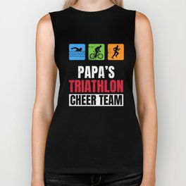 Papas Triathlon Supporters Family Cheer  Biker Tank