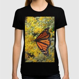 Monarch on Rubber Rabbitbrush T-shirt