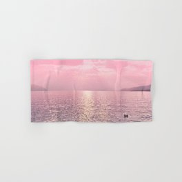 Kiss In The Lake At Sunset Hand & Bath Towel