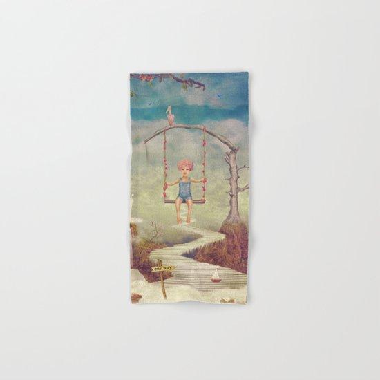 Mysterious city in sky Hand & Bath Towel