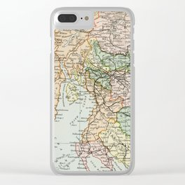 South Scotland Vintage Map Clear iPhone Case