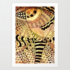 Elephant Butterfly Collection Art Print