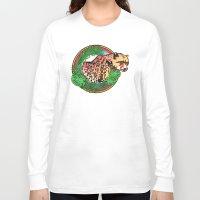 leopard Long Sleeve T-shirts featuring leopard by Elena Trupak
