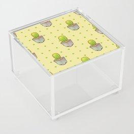 Small green cactus Acrylic Box