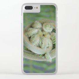 Furled Fern Soon to Unfurl Clear iPhone Case