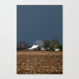 Dark Blue Farm Sky Canvas Print
