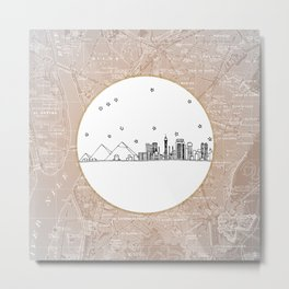 Cairo, Egypt (Giza), Africa City Skyline Illustration Drawing Metal Print