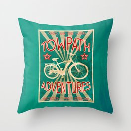 TOWPATH ADVENTURES Throw Pillow