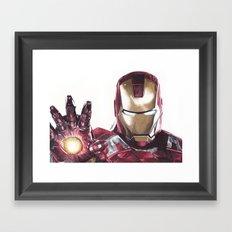 Iron Man Pen Drawing Framed Art Print