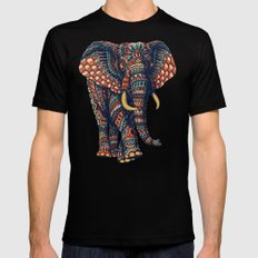 Ornate Elephant v2 (Color Version) Black LARGE Mens Fitted Tee