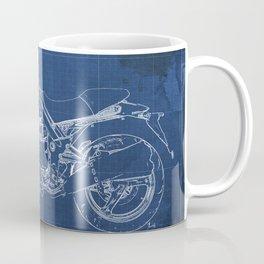 2010 Moto Guzzi Griso1200 8V, motorcycle blueprint, blue poster,milimiter,original poster,giftforhim Coffee Mug