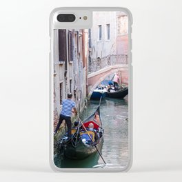 Exploring Venice by Gondola Clear iPhone Case