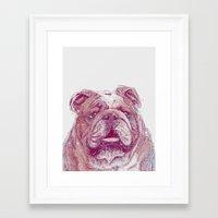 bulldog Framed Art Prints featuring Bulldog by Ahmad Mujib
