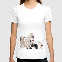 doberman T-shirts featuring Monsieur Doberman by Cassandra Jean