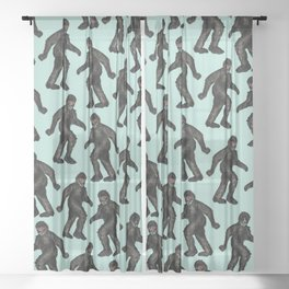 Sasquatch Sighting | Bigfoot Encounter Pattern | Wild Animals Sheer Curtain