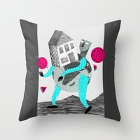 globe Throw Pillows featuring GLOBE by Vértice Design Studio