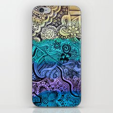 Watercolor Doodle iPhone Skin