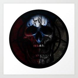 CZ skull flag II Art Print