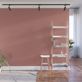 Deep Rose Pink Solid Color Pairs with Sherwin Williams Heart 2020 Forecast Color Coral Clay SW9005 Wall Mural