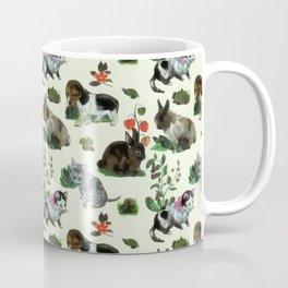Garden Animals Rabbit Cat Dog Flowers Coffee Mug