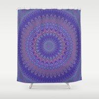 mandala Shower Curtains featuring Purple mandala by David Zydd - Colorful Mandalas & Abstrac