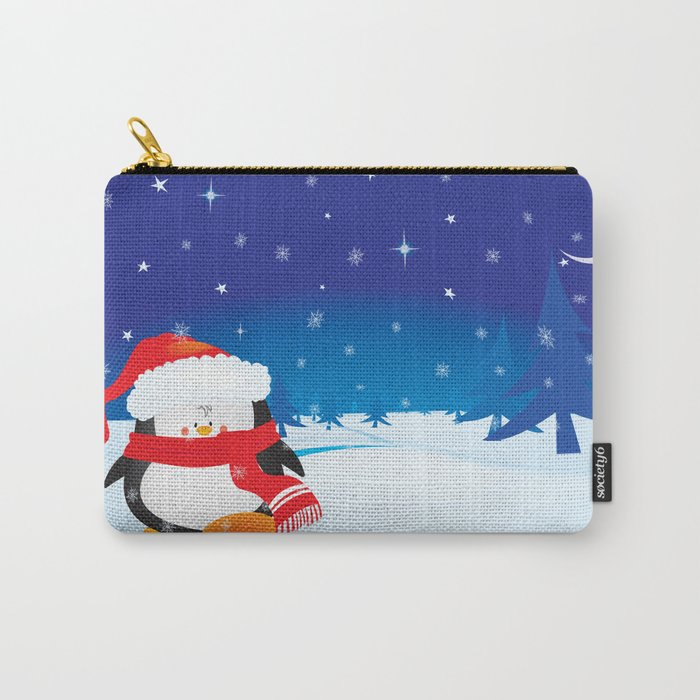 cute little xmas penguin Carry-All Pouch