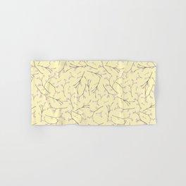 Sakura - Cherryblossom Branches on yellow Pattern Hand & Bath Towel