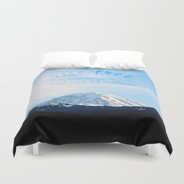 rise free from care before the dawn, and seek adventures Duvet Cover