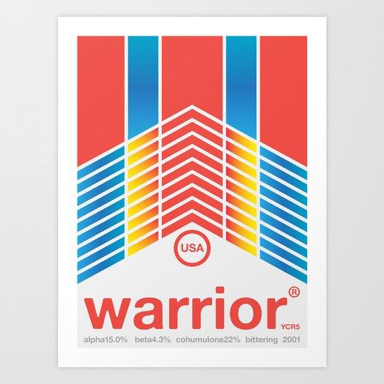 warrior single hop Art Print