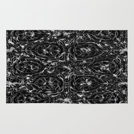 Black and white astral paint 5020 Rug