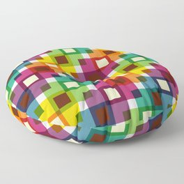 Geometric Pattern 11 (Colorful squares) Floor Pillow