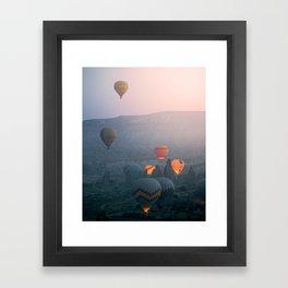 Balloons over Cappadocia Framed Art Print