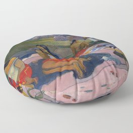 "Paul Gauguin ""Nave Nave Moe - Sacred Spring Sweet Dreams"" Floor Pillow"