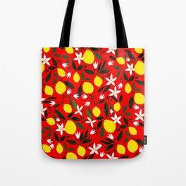 Lemons Red Tote Bag