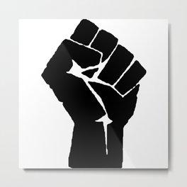 BLM Fist Metal Print