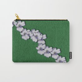 Cherry-blossoms Branch Decorative On A Field Of Fern Carry-All Pouch