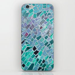 Crashing Waves Mosaic iPhone Skin
