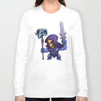 skeletor Long Sleeve T-shirts featuring Little Skeletor by Rico Marcano