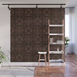 Brown patchwork Wall Mural