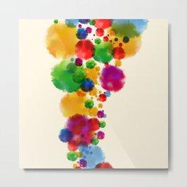 Watercolor splatters background Metal Print